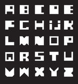 White Alphabet — Stock Vector