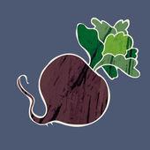 ícone de cor de beterraba — Vetor de Stock