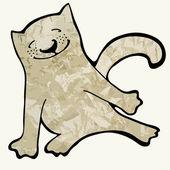 幸せな猫. — ストックベクタ