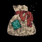 Starý pytel s dárky. — Stock vektor