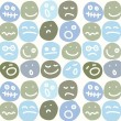Stock Vector: Seamless pattern of smiles