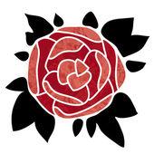 Rose icon — Stock Vector