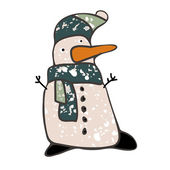 Sněhulák ikona — Stock vektor