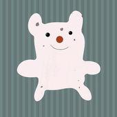 小さな白いクマ — ストックベクタ