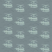 Helicopter pattern. Military design — Stock Vector
