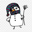 Snowman icon. — Stock Vector