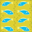 Seamless texture with fish — Stock Vector #36924933