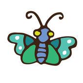 Green butterfly icon — Vetor de Stock