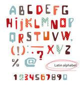 Latin Alphabet. — Stock Vector