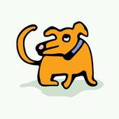 Friendly little dog. — Vecteur