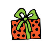 Box with ribbon for Holiday. — Vector de stock