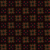 Ethnic drawing retro pattern. — Vetorial Stock