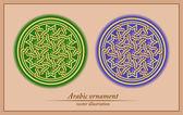 Арабский орнамент, геометрический рисунок, бесшовные модели — Cтоковый вектор