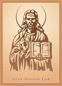 Jesus Christ, blessing, Christianity — Vector de stock