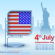 Independence Day, modern construction, vector, design — Stock Vector