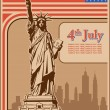 Independence Day, Statue of Liberty, holiday, vector — Image vectorielle
