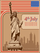 Independence Day, Statue of Liberty, holiday, vector — Stock Vector