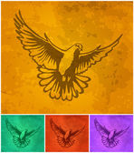 Decorative element, dove, holy Spirit, vector — Stock Vector