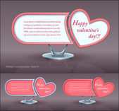 Modern construction, Valentines day, vector, design — Stock Vector