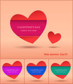 Valentines web element design, Valentines day, vector, website — Vector de stock