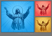 Jesus Christ, holy Spirit, blessing, Christianity, vector — Stock Vector