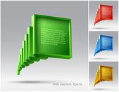 Web design de elementos de construção moderna, vetor, site — Vetorial Stock