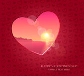 Valentines day, vector banner, background, website — Stock Vector