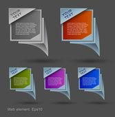 Web element design, modern construction, vector, website — Stock Vector