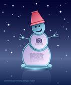 Reklam tasarımı, kardan adam, inşaat, tasarım öğesi, vektör noel — Stok Vektör