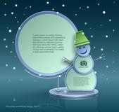 Christmas advertising design, snowman, construction, web element design, vector — Stock Vector
