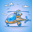 Stock Vector: Abstract helicopter, stylization, vector