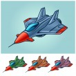 Abstract plane, fighter, stylization, vector — Vettoriali Stock