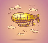 Airship abstract, stylization, vector — Stock Vector