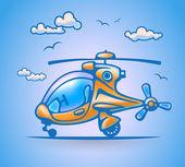 Helicóptero abstracta, estilización, vector — Vector de stock