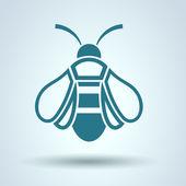 Honing honingbij pictogram, vector — Stockvector