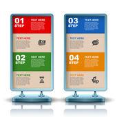 Advertising billboard, web element design, modern construction, vector — Stock Vector