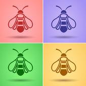 Honey Bee icon, vector — Stock Vector