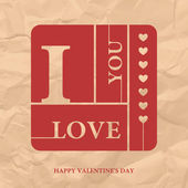 Valentijnsdag, liefde, vector retro banner — Stockvector
