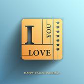 Valentines day, I Love you, Vector banner — Cтоковый вектор
