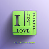 Valentines day, I Love you, Vector banner — Stock Vector