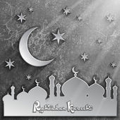 Islamic pattern 3D background, Ramadan Kareem vector background, Arabic ornament, Vector illustration Eps 10 — Vector de stock