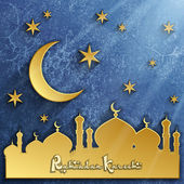 Islâmica de fundo 3d, de fundo vector ramadan kareem, ornamento árabe, ilustração de vetor eps 10 — Vetor de Stock