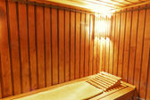 Wood cozy sauna room — Stock fotografie