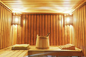 Interior of modern sauna cabin — Stock Photo