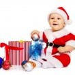 Small Santa Claus with big smile — Stock Photo