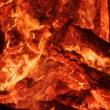 Flaring heat fire and coals — Stock Photo
