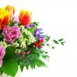 Stock Photo: Fragment beautiful bouquet from tulips