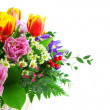 Fragment beautiful bouquet from tulips — Stock Photo