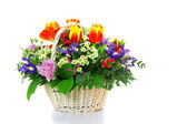 Beautiful bouquet from tulips — Stock Photo