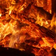 Stock Photo: Flaring heat fire and coals
